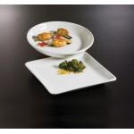 """14""""x14"""" Platter, Ceramic, White - 1/Case"""