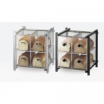 Cal-Mil 1146-13 One by One 4 Drawer Bread Case (Black)