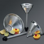 473 ml Strainer Funnel, Aluminum, Silver - 12/Case