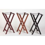 "17"" Tray Stand, Wood, Black - 1/Case"