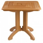 "32"" Folding Table, Square, Atlantis, Teakwood - 2/Case"