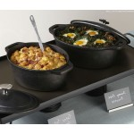 "11.5""x8 Cast Iron Casserole With Handles, Oval - 2/Case"