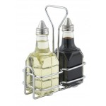 Cruet Rack For 6 Oz. Oil/Vinegar Bottles, Chrome Plated - 12/Case