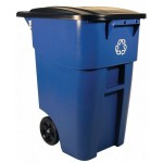 BRUTE® Recycling Rollout Container with Lid - 2/Case