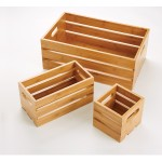 "12.25""x6.25"" Crate, Bamboo - 4/Case"