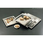 STAINLESS STEEL, HAMMERED TRAY, SQUARE, 18 18 L X 18 W X 1-1/8 H