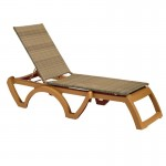 Chaise, Java All-Weather Wicker Honey - 12/Case