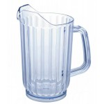60 Oz. Water Pitchers, Plastic, Clear - 32/Case