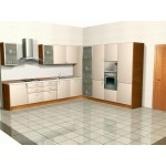 Particle board 18 mm kitchen unit.