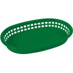 "10.75"" x 7.25"" x 1.5"" Platter Baskets, Oval, Green - 144/Case"