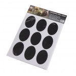 "3""x3"" Chalkboard Stickers, Vinyl, Black - 240/Case"