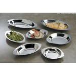 Dish, Stainless Steel, Au Gratin, Oval, 8 Oz. 8 Lx4-1/2 Wx1 H - 120/Case