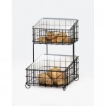 Cal-Mil 1203-13 2 Tier Basket Bread Case (Black)