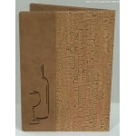 "10""x10"" Cork Wine Card, Cork, Brown - 40/Case"