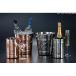 "7.25"" H Wine Cooler, S/S, Copper/Silver - 12/Case"