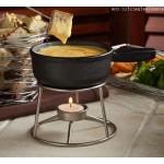 12 Oz. Mini Cast Iron Fondue Pot - 6/Case