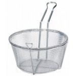 """10.5"""" x 6"""" Round Wire Fry Basket, 4 Mesh"""
