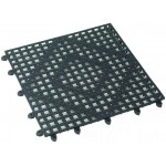 "12"" x 12"" Bar Mat, Interlocking, Dark Smoke - 12/Case"