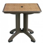 "32"" Folding Table, Square, Havana, Espresso - 2/Case"