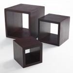 Riser, Wood, Square, Mahogany, Set Of 3 5 Sq., 7 Sq., 9 Sq. - 2/Case