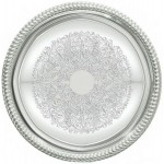 """14"""" Serving Tray, Round, Chrome Plated - 12/Case"""
