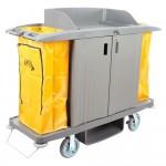 Executive Compact 3-Shelf High-Capacity Housekeeping Cart – Steel