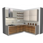 Panels kitchen unit, veener and high gloss.