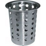 Flatware Cylinder, Perforated, S/S - 20/Case