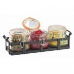 Cal-Mil 3335-13 Rustic Jar Condiment Display (17oz Jars)