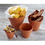 14 Oz. Terracotta Pot, Melamine, Terracotta - 12/Case