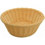 "8.25"" x 3.25"" Poly Woven Baskets, Round, Natural - 12/Case"
