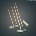 """10.3""""x4.4"""" Pizza Oven Brush Replacement, Wood/Steel - 36/Case"""