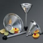 1 Ltr Strainer Funnel, Aluminum, Silver - 24/Case