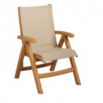 Folding Sling Chair, Belize Midback Khaki - 2/Case