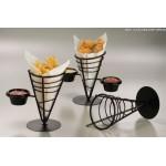 Conical Basket, Wrought Iron, One-Cone W/ One Ramekin 5 Dia.x9 H - 12/Case