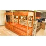 Market stall / Buffet station. Mahogany, exterior grade Ply