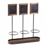 "16""x16"" Bottle Display, Antique Copper, Steel Frame, Wood Base - 1/Case"
