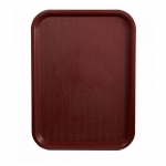 "10"" x 14"" Fast Food Tray, Burgundy - 12/Case"